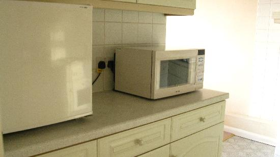 Lakeview Court Apartments: microwave