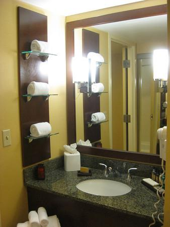 Memphis Marriott: bathroom sink/vanity area