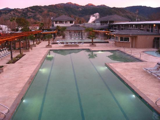 Calistoga Spa Hot Springs: New Pool Deck