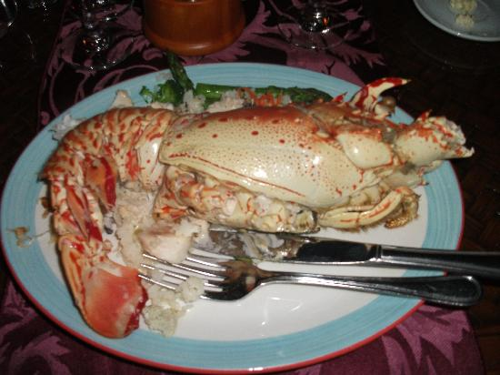 Saint Philip, Antigua: Lobster in Nicole's fine dining restaurant