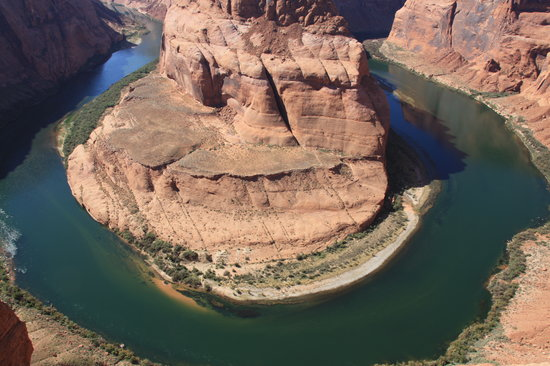Page, AZ: Horseshoe Bend zur Mittagszeit