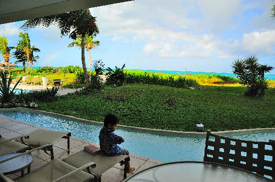 Coral Gardens on Grace Bay: Rainbow view from living room of Unit 1102