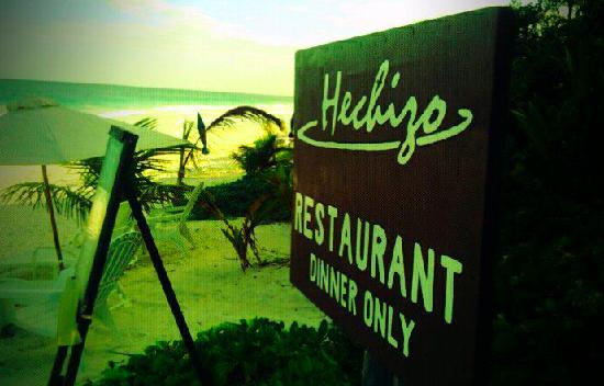 beach entrance Tulum Restaurant Review   Our neighbours Stefan and Hui of Hechizo