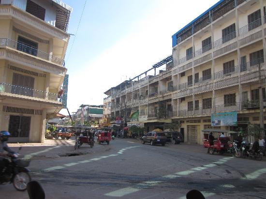 Asia Hotel: View of street from hotel entrance.