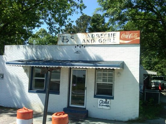 Greenville, NC: The extremely worn exterior of this BBQ icon