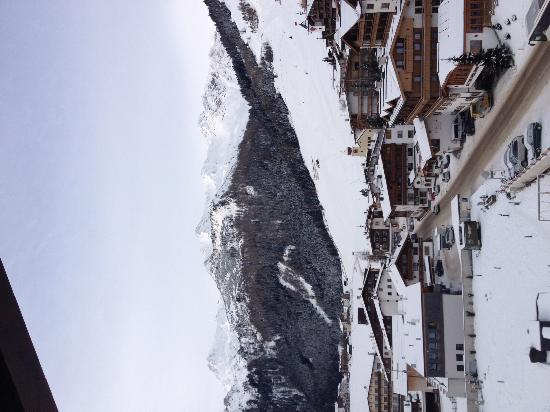 Hotel Alpenhof Hintertux: view from our room