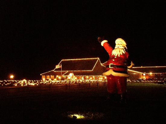 Santa Claus, IN: Santa's Lodge is decorated for Christmas year-round