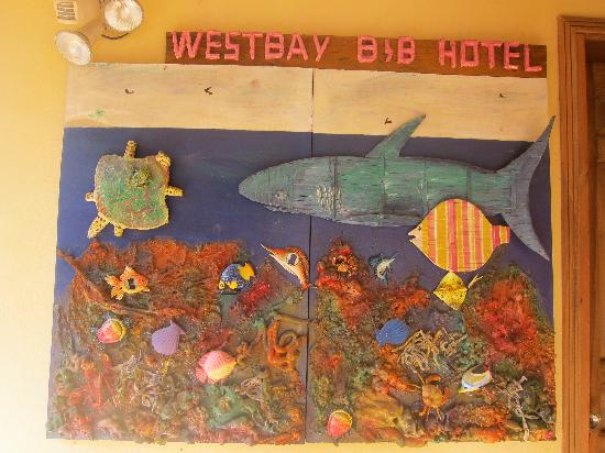 West Bay B & B: Glen's decorative artwork