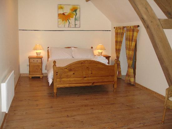 Cussay, Prancis: Le Pluvier double bedroom