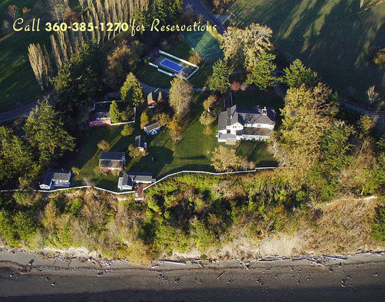 Aerial View of Chevy Chase Beach Cabins