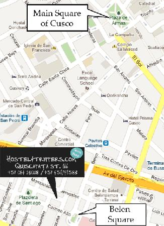 Hostel 4 Trippers: Map