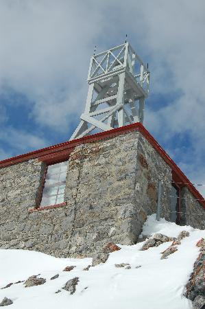 Banff, Canada: The weather station that used to be manned.  A lonely post!