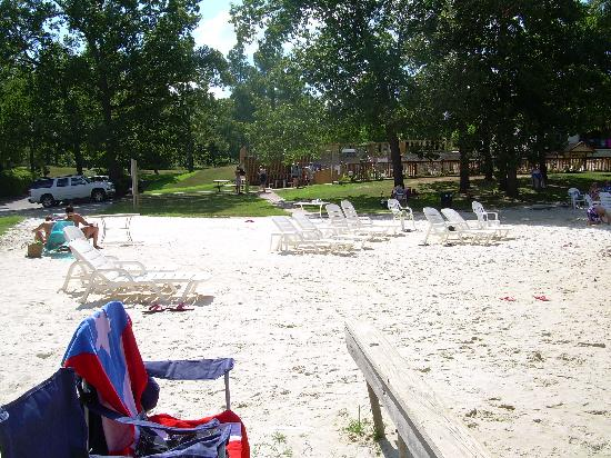 The white sand beach by the lake picture of crown point for Sand point lodge