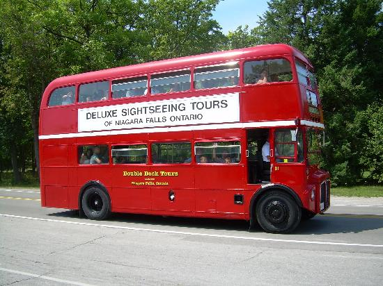 real double decker bus in ontario picture of niagara falls new york tripadvisor. Black Bedroom Furniture Sets. Home Design Ideas