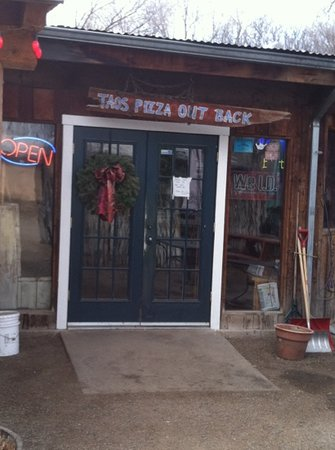 Front Door on Taos Pizza Out Back Restaurant Reviews  Taos  New Mexico   Tripadvisor