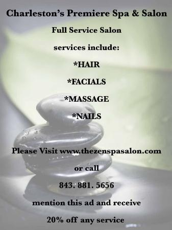 Hampton Inn and Suites Charleston/Mt. Pleasant-Isle Of Palms: Zen Spa Salon Nearby