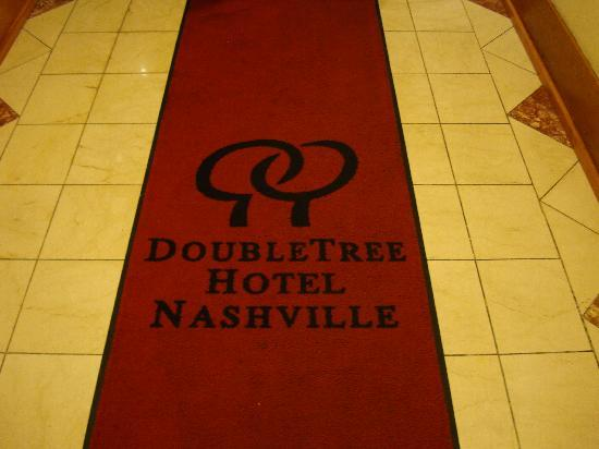 DoubleTree by Hilton Nashville-Downtown: Welcome Mat.