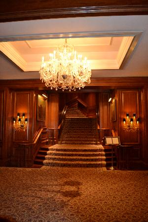 The Ritz-Carlton, St. Louis: stunning chandeliers and woodwork