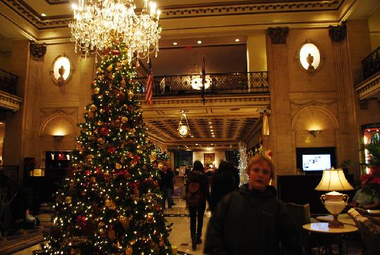 The Roosevelt Hotel: L&#39;albero di Natale era invece splendido