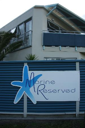 Marine Reserve Apartments: From the road