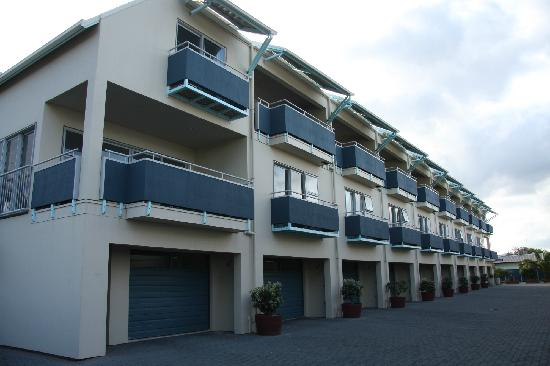 Marine Reserve Apartments: The three story apartments