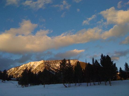 Lone Mountain Guest Ranch: We skied on the ranch's groomed trails until the sun began to set . . .