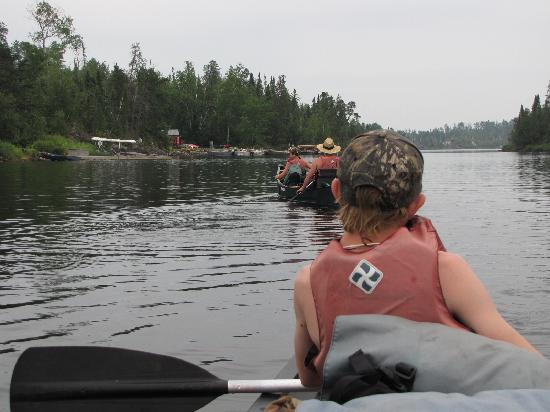Voyageur Canoe Outfitters: our last 100 yds. on the water