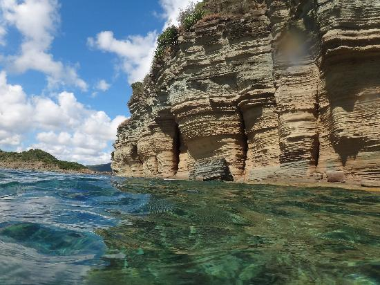 English Harbour, Antigua: Pillars from the water