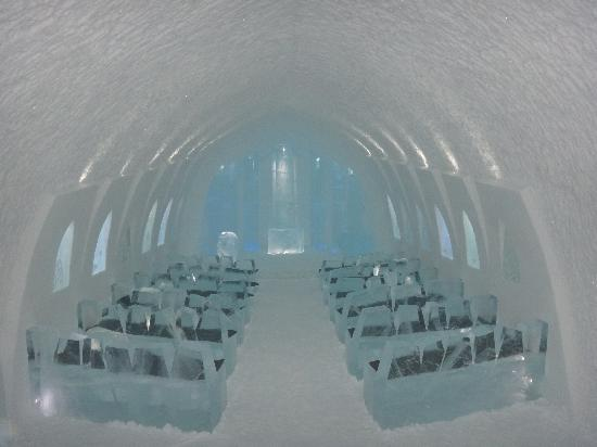 Icehotel: The ice church