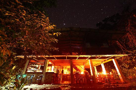Bosque del Rio Tigre: lodge at night