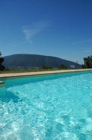 Bed and Breakfast Le Ginestre: piscina con vista