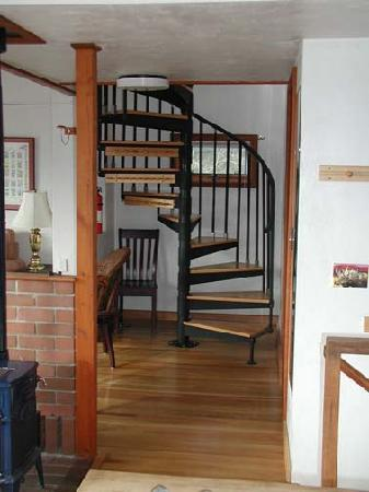 River House: Stairs to Loft