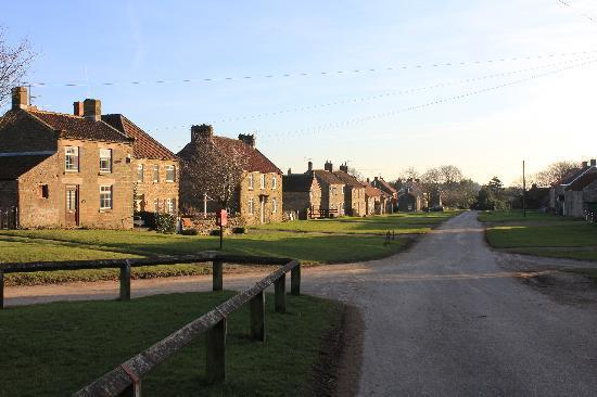 Rectory Farm and Holiday Cottages: View from the pub, Rectory Farm on the left.