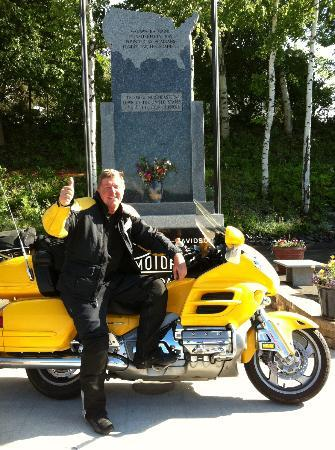 Madawaska, ME: The monument to long distance riding and the photo op spot