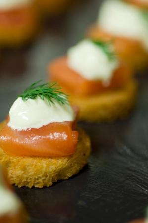 Salmon canape picture of the scottish cafe restaurant for Restaurant canape