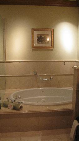 The Rose Hotel: Sparkling clean whirlpool tub