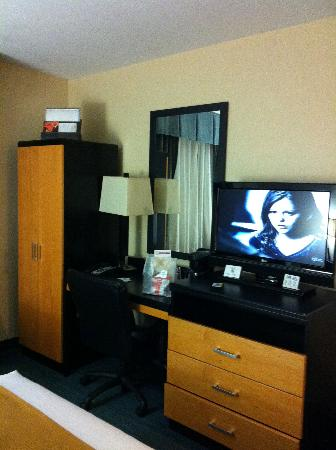 Holiday Inn Express At JFK: Desk and TV
