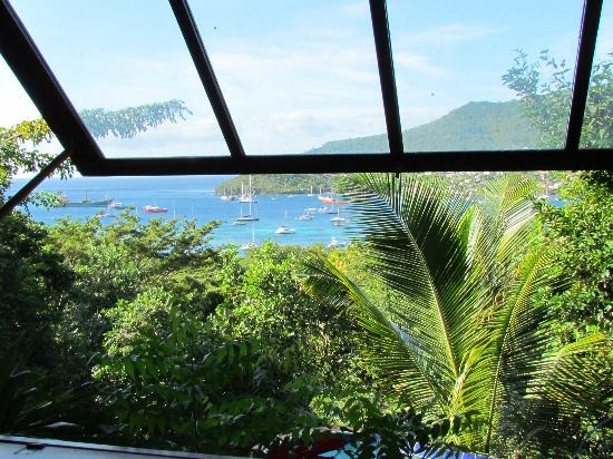 Belmont, Bequia: View from the first bay window in apartment 4