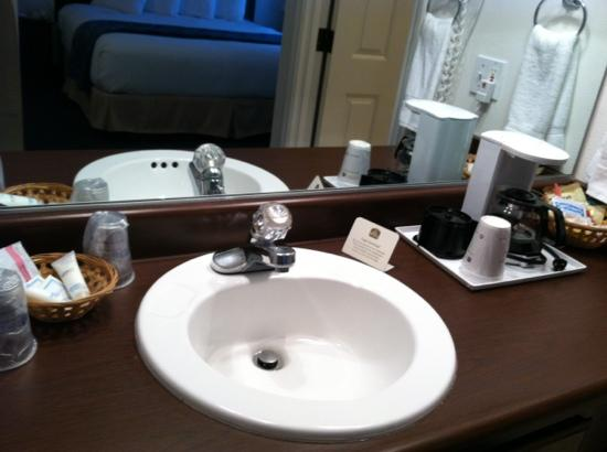 BEST WESTERN Grand Manor Inn: bathroom vanity