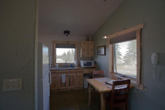 Blue Sky Cabins: well-stocked kitchen