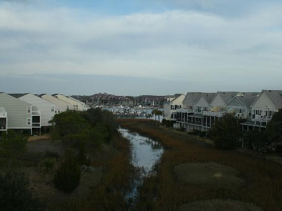 Water's Edge Inn at Folly Beach: Balcony view.