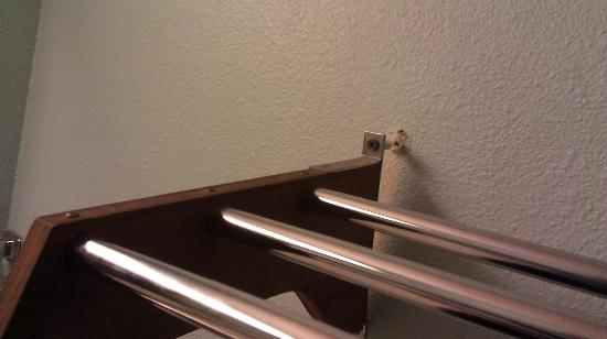 Days Inn Seattle South: the shelf hanging off in a room we just checked into