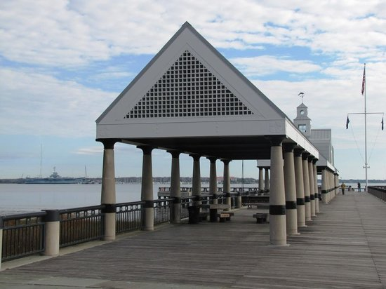 Charleston, SC: This covered pavillion greets visitors to the park