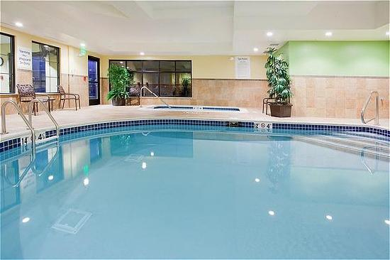 Holiday Inn Express Denver Airport: Relax by the indoor pool and hot tub