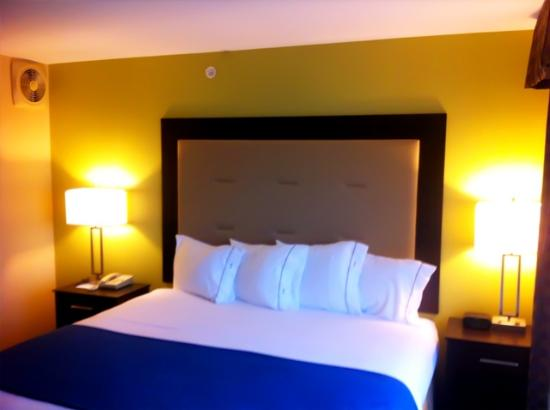 Holiday Inn Express &amp; Suites: gorgeous backboard and bed