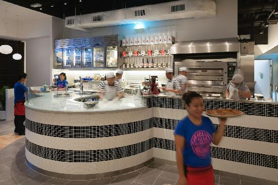 The Open Kitchen Picture Of Pizza Express Ocean Terminal