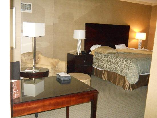 Omni Dallas Hotel at Park West: bed, left