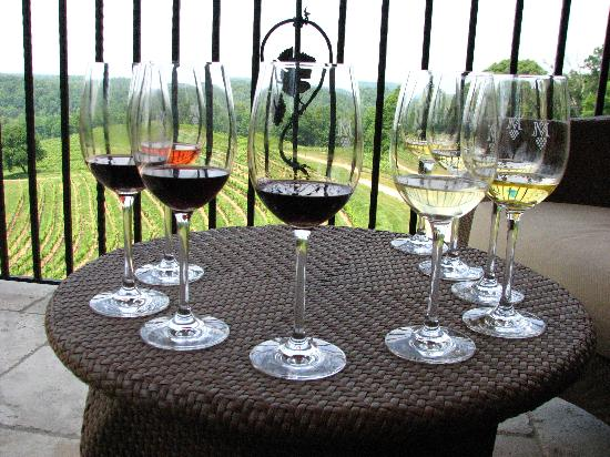 Long Mountain Lodge: Wine tasting