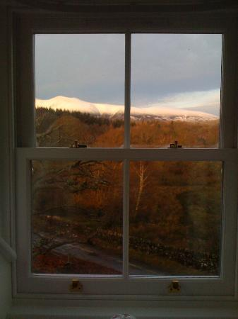 Newlands, UK: View from our second floor dormer room.