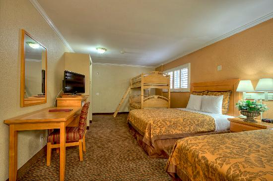Two Queen Beds And A Bunk Bed Picture Of Anaheim Islander Inn And Suites Anaheim Tripadvisor